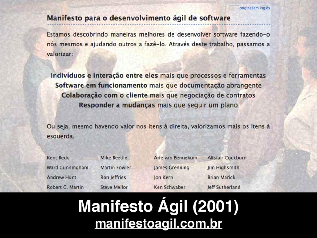 Manifesto Ágil (2001) manifestoagil.com.br