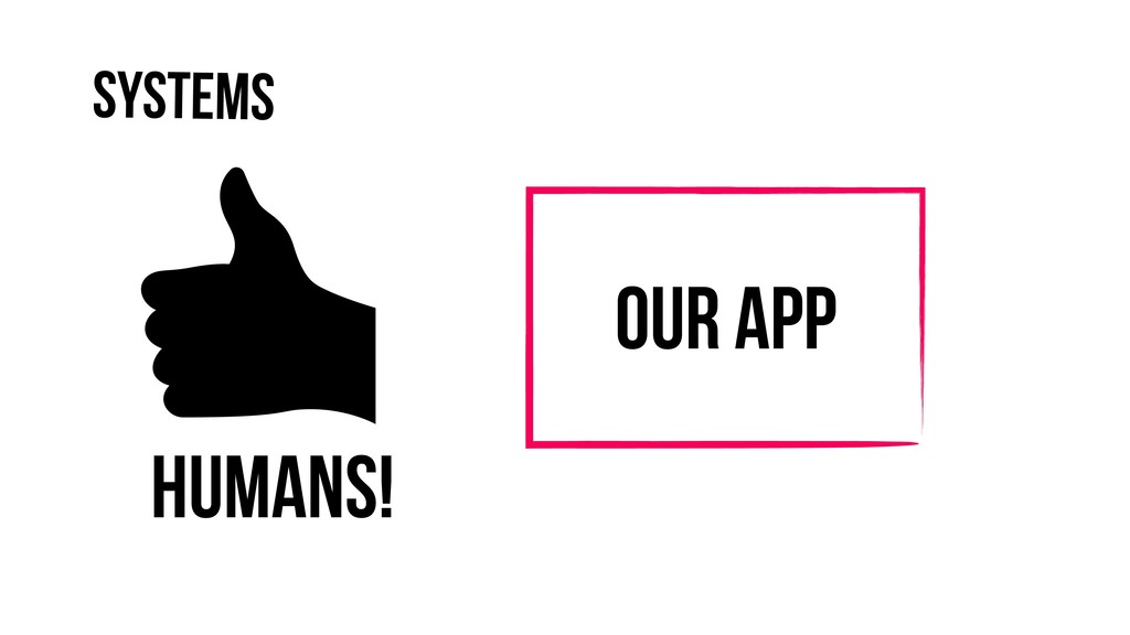 Systems Our App Humans!