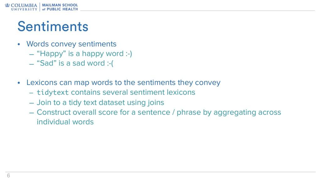 "6 • Words convey sentiments – ""Happy"" is a happ..."