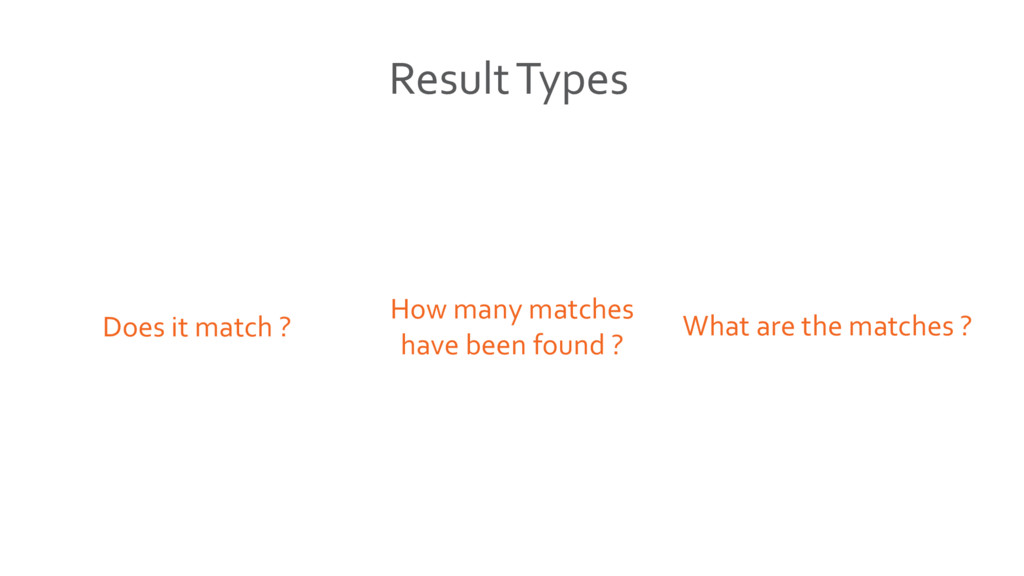 What are the matches ? How many matches have be...