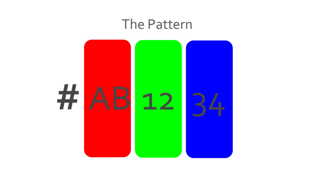 The Pattern # AB 12 34
