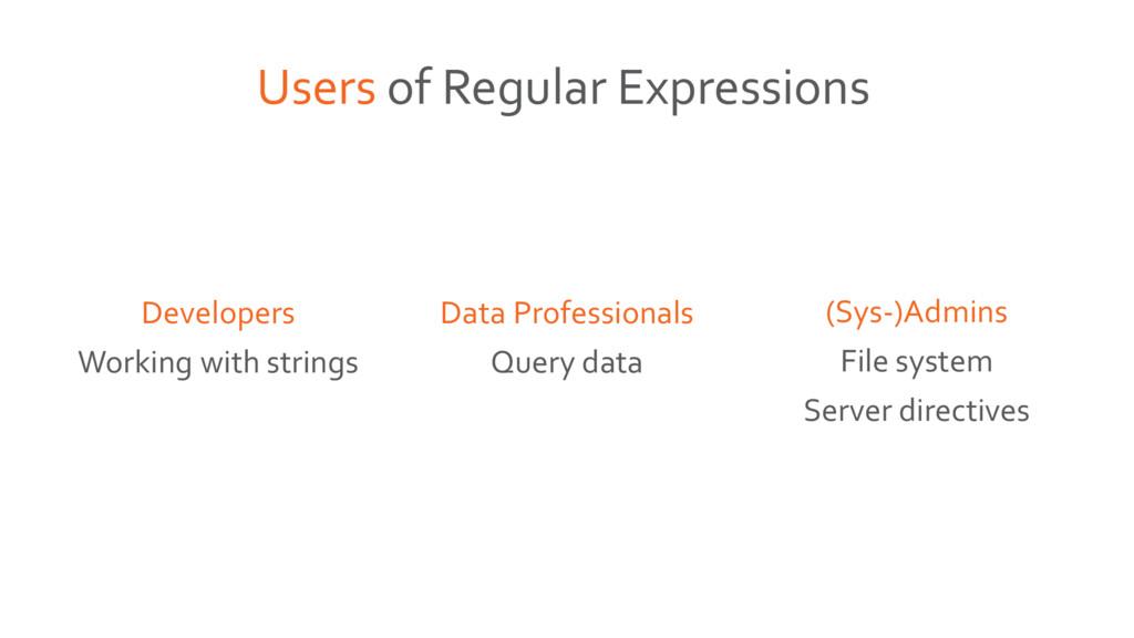 (Sys-)Admins File system Server directives Data...