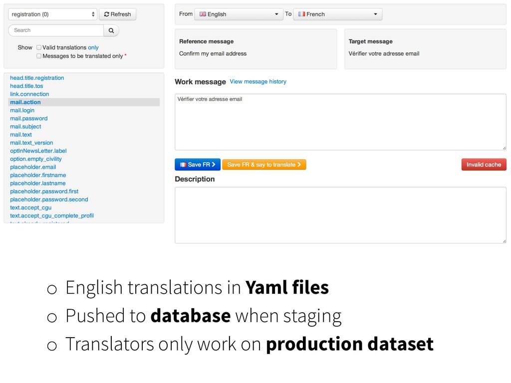 o English translations in Yaml files o Pushed...