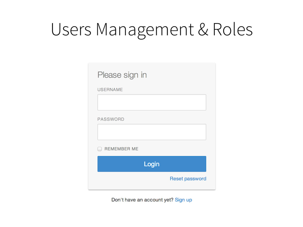 Users Management & Roles