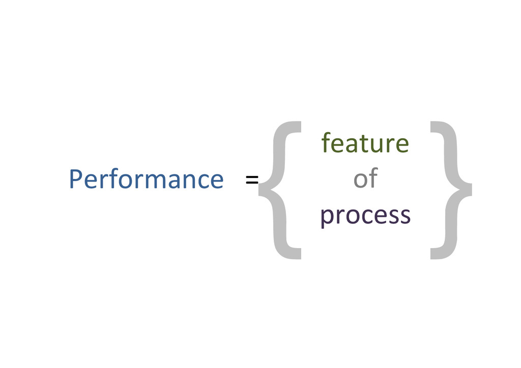 { } Performance%%%=% feature% of% process%