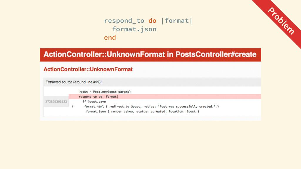 respond_to do |format| format.json end Problem