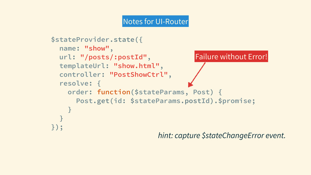 Notes for UI-Router $stateProvider.state({ name...