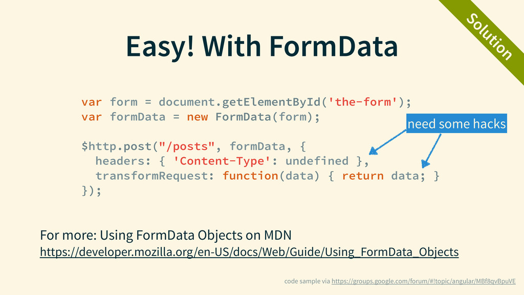 Easy! With FormData For more: Using FormData Ob...