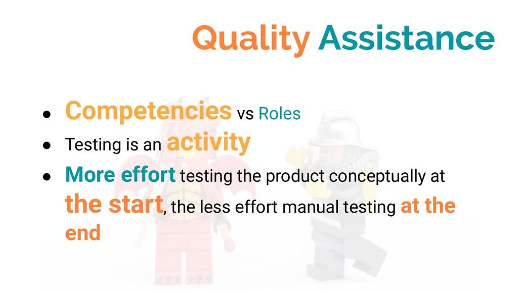 ● Competencies vs Roles ● Testing is an activit...