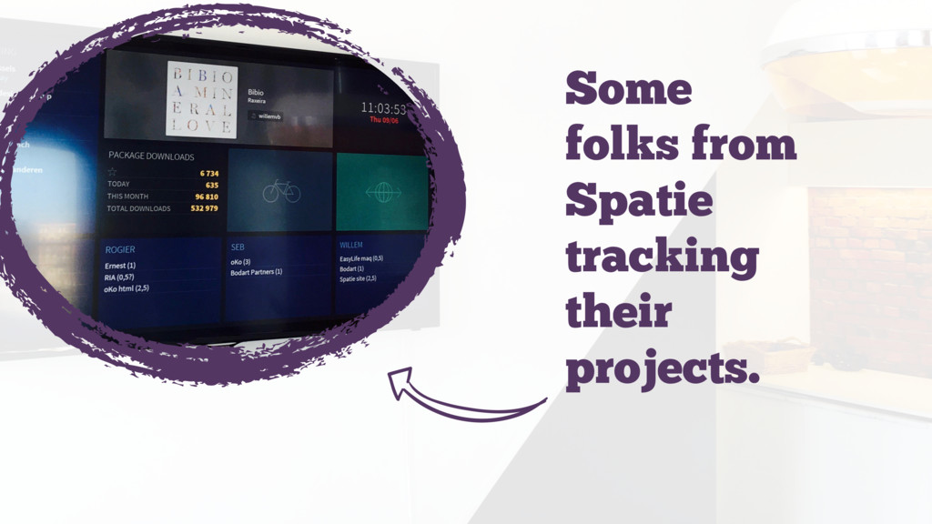Some folks from Spatie tracking their projects....