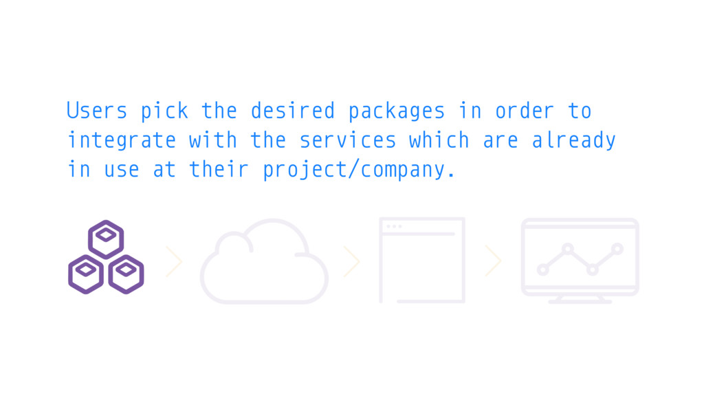 Users pick the desired packages in order to int...