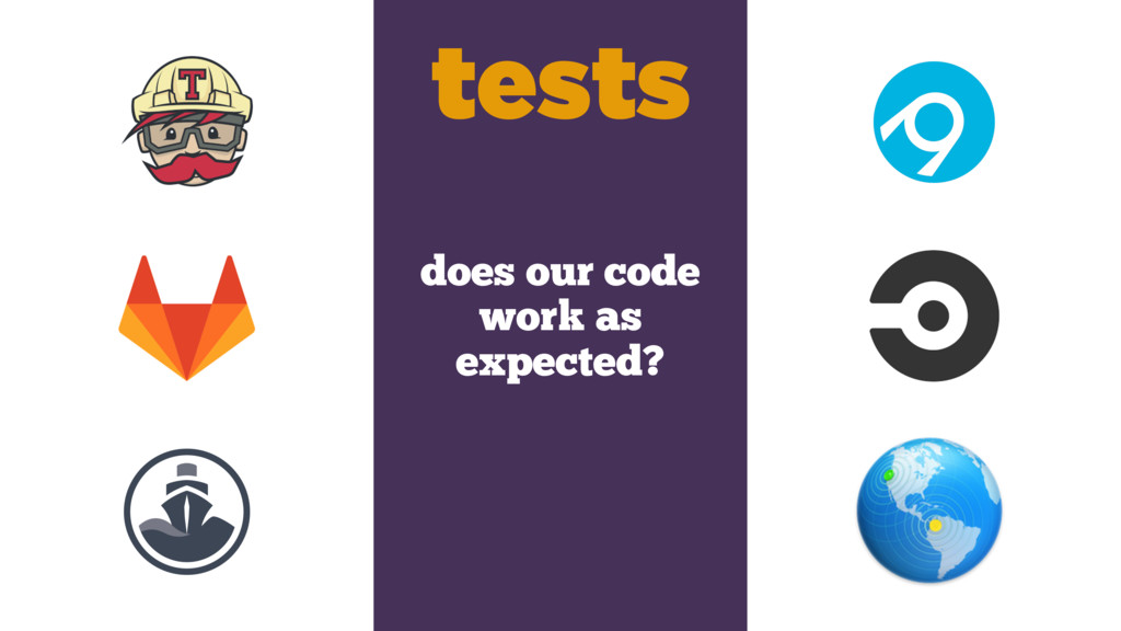 does our code work as expected? tests
