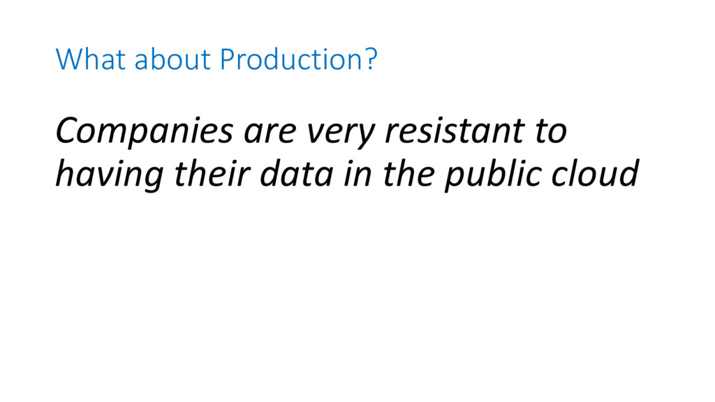 What about Production? Companies are very resis...