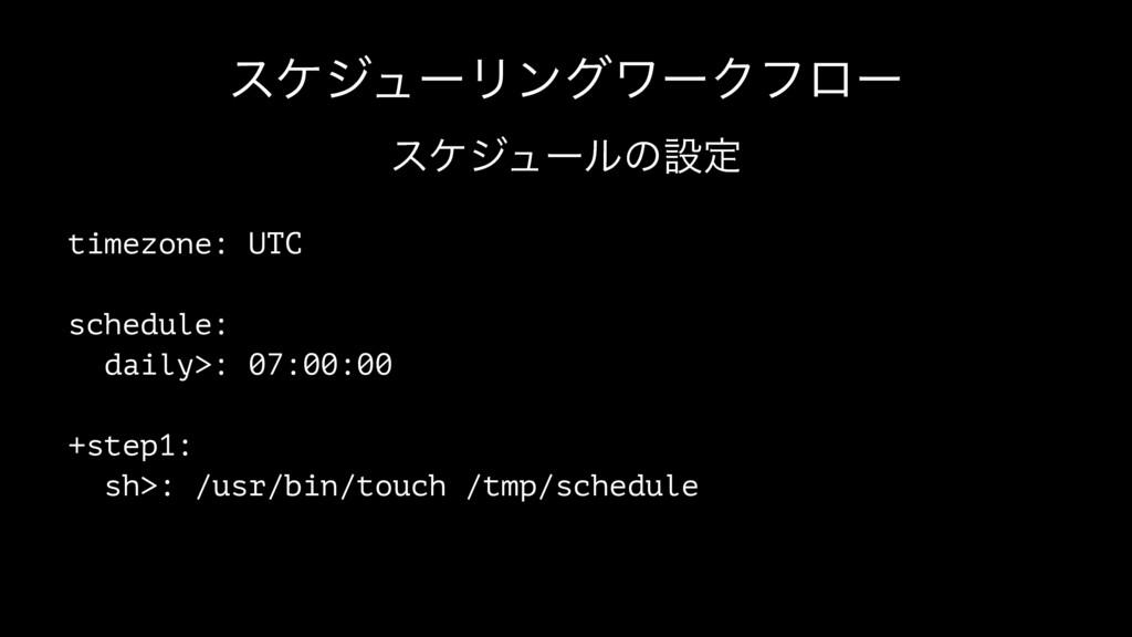 εέδϡʔϦϯάϫʔΫϑϩʔ εέδϡʔϧͷઃఆ timezone: UTC schedule...