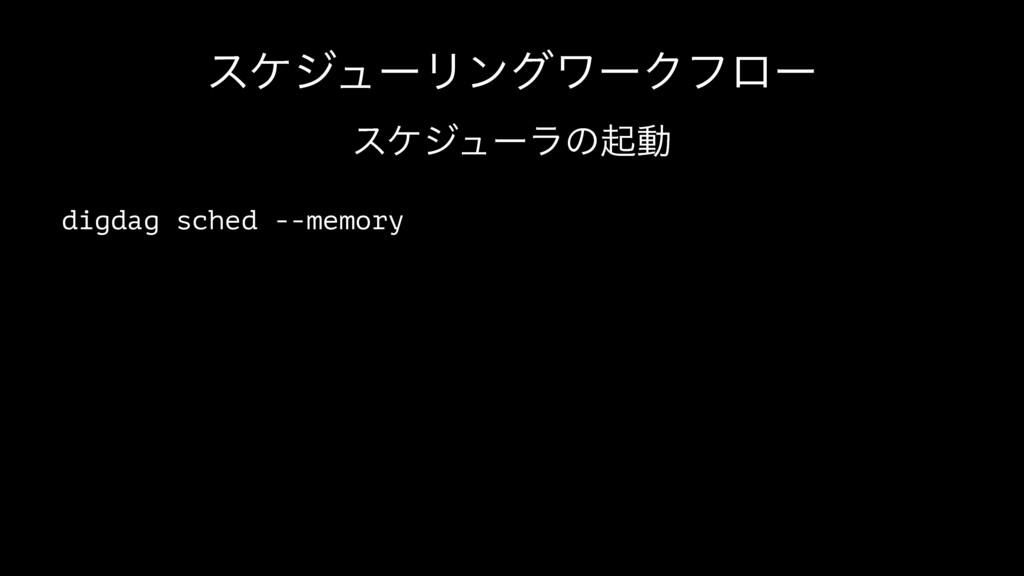 εέδϡʔϦϯάϫʔΫϑϩʔ εέδϡʔϥͷىಈ digdag sched --memory