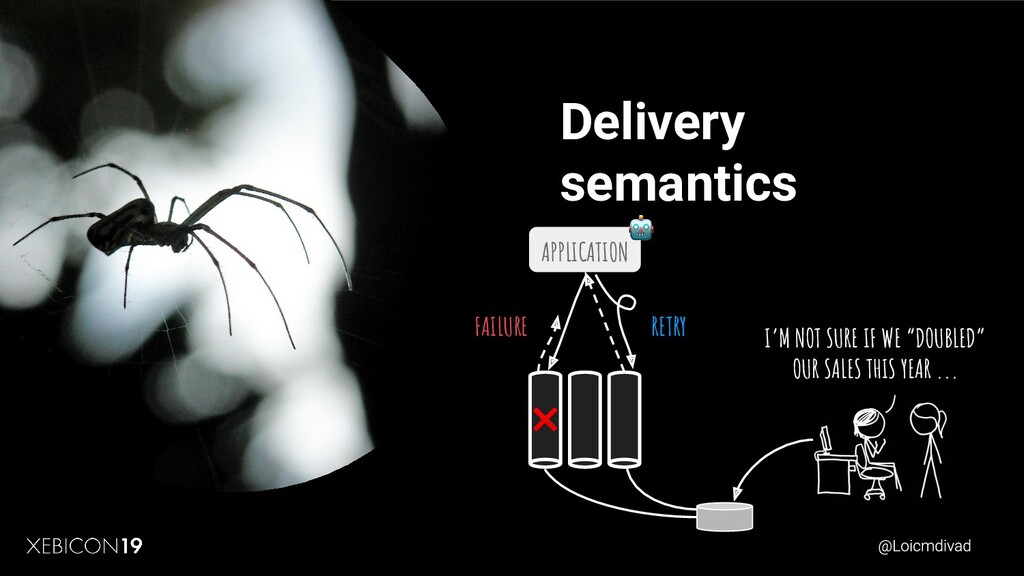 """Delivery semantics I'M NOT SURE IF WE """"DOUBLED""""..."""