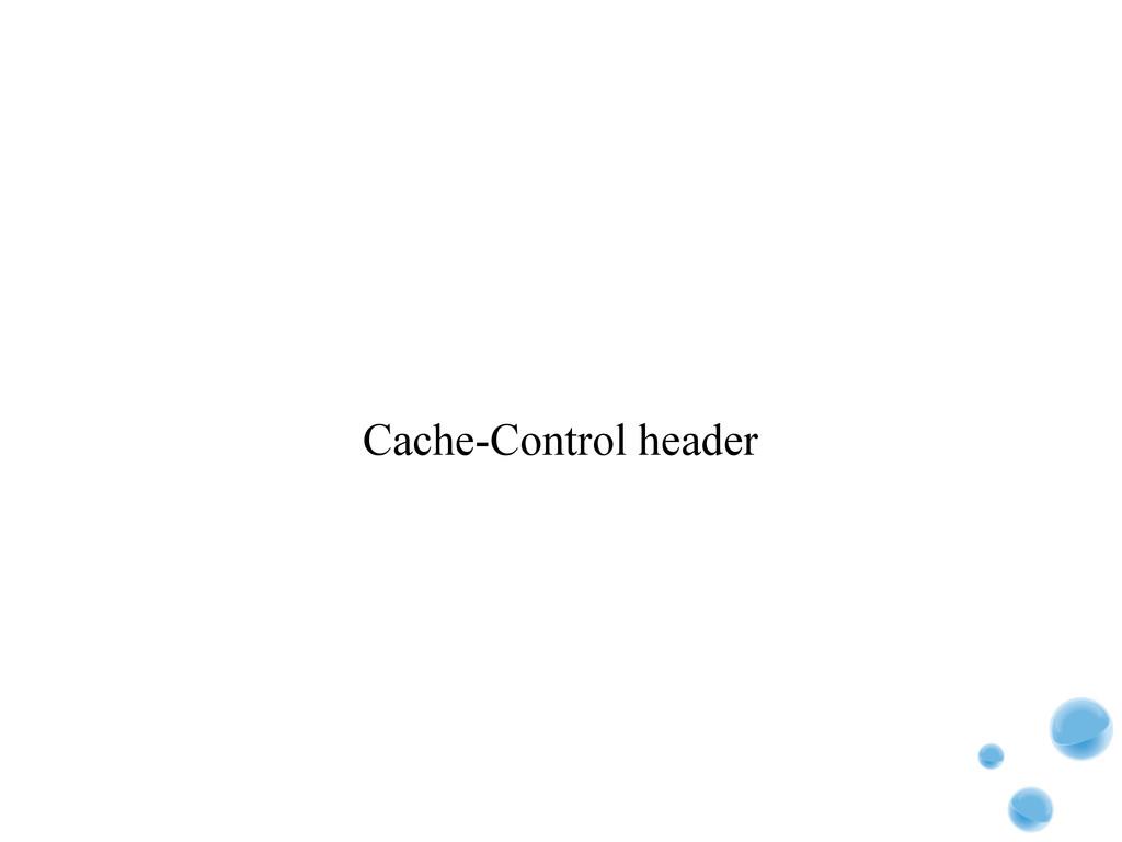 Cache-Control header