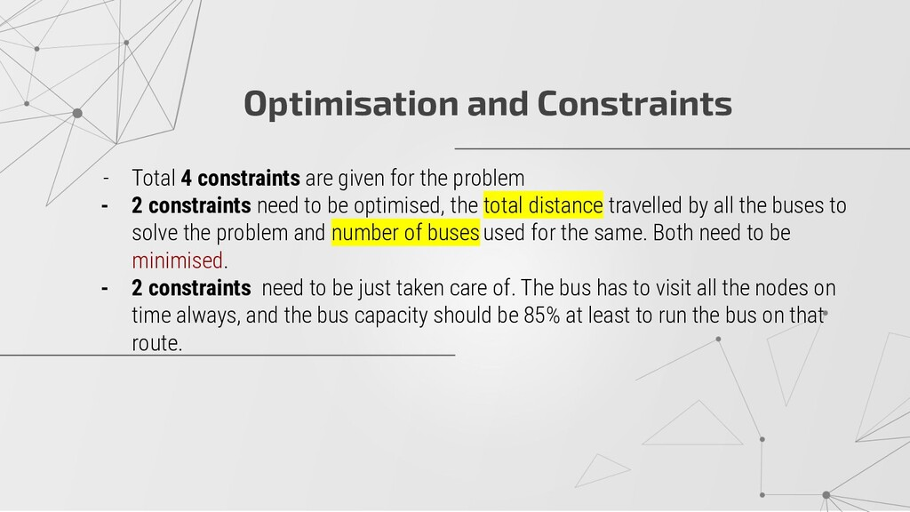 Optimisation and Constraints - Total 4 constrai...