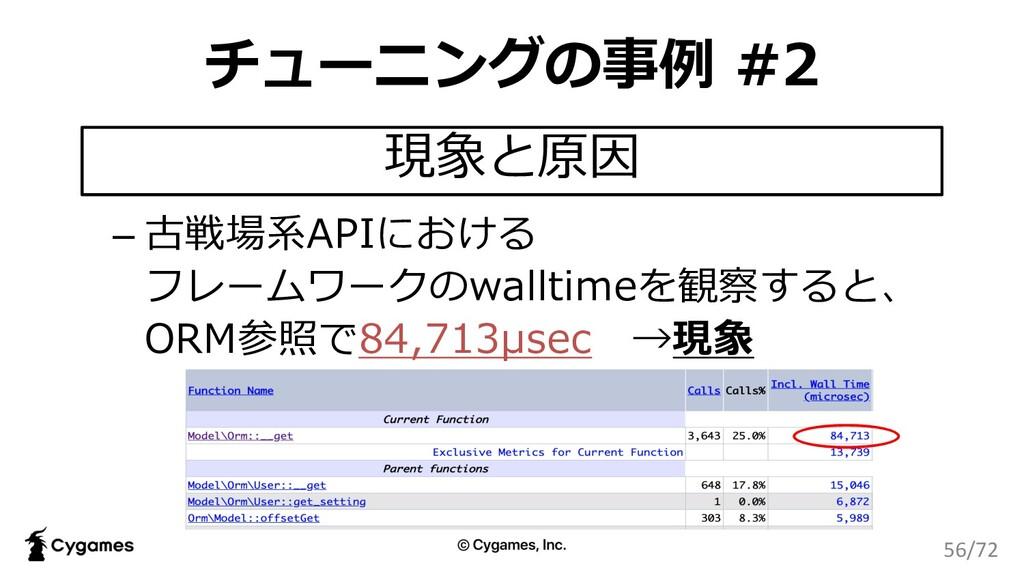 チューニングの事例 #2 – 古戦場系APIにおける フレームワークのwalltimeを観察す...
