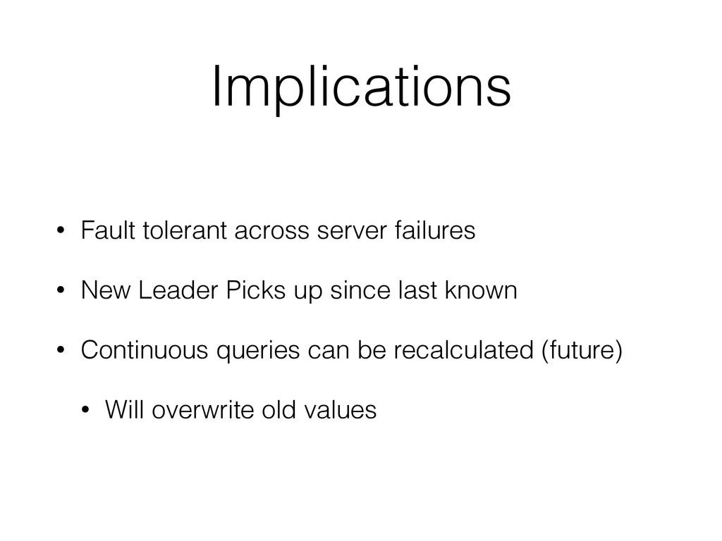Implications • Fault tolerant across server fai...