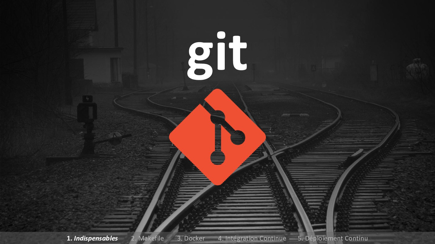 git 1. Indispensables 2. Makefile 3. Docker 4. ...