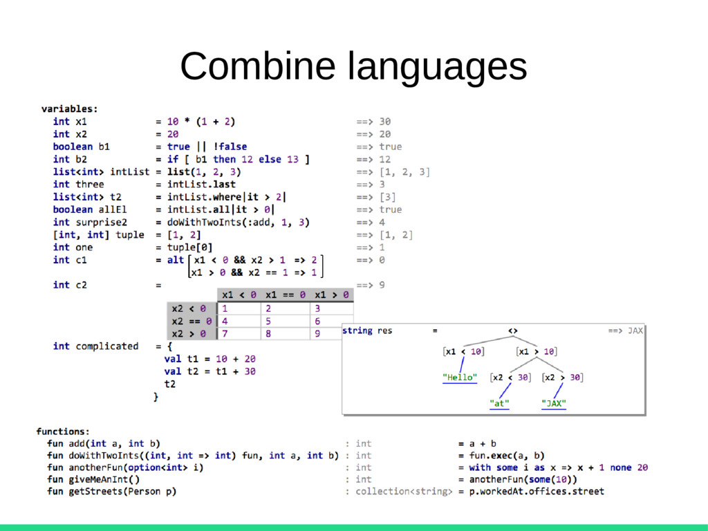 Combine languages