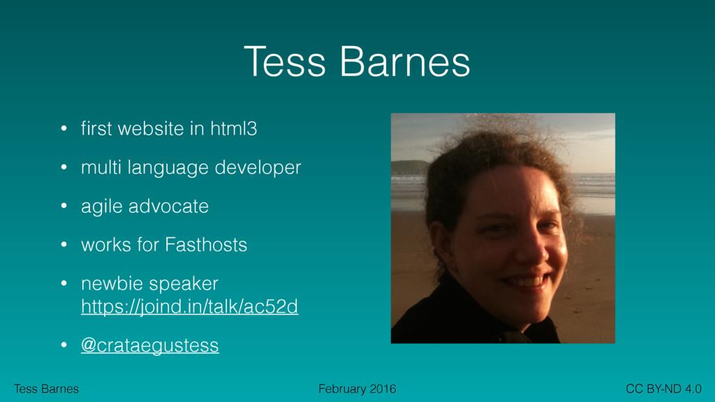 Tess Barnes CC BY-ND 4.0 February 2016 Tess Bar...
