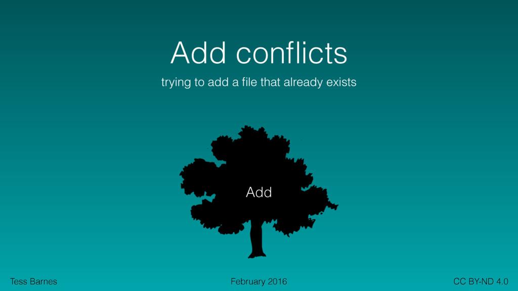 Tess Barnes CC BY-ND 4.0 February 2016 Add confl...