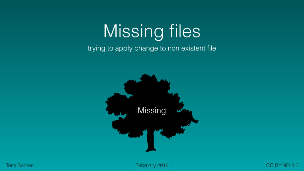 Tess Barnes CC BY-ND 4.0 February 2016 Missing ...