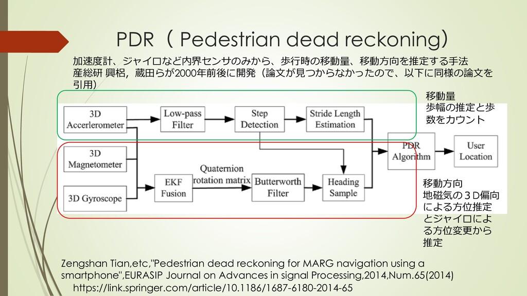 PDR( Pedestrian dead reckoning) Zengshan Tian,e...