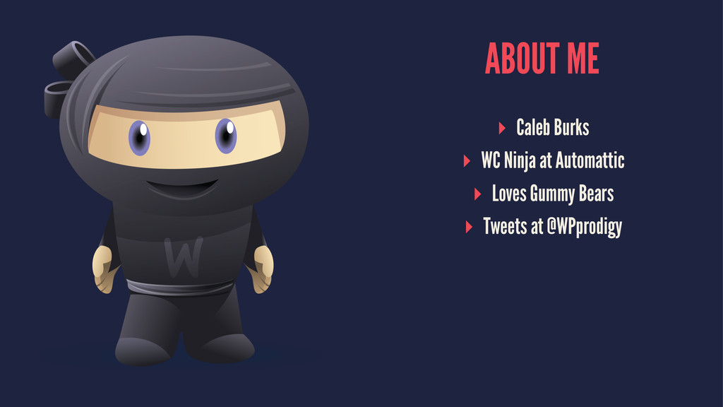 ABOUT ME ▸ Caleb Burks ▸ WC Ninja at Automattic...