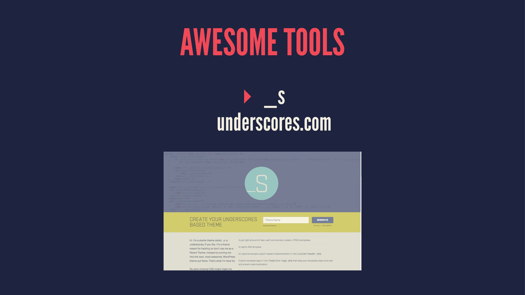 AWESOME TOOLS ▸ _s underscores.com