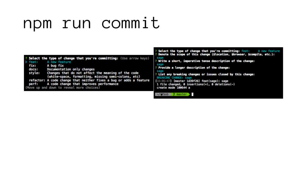 npm run commit