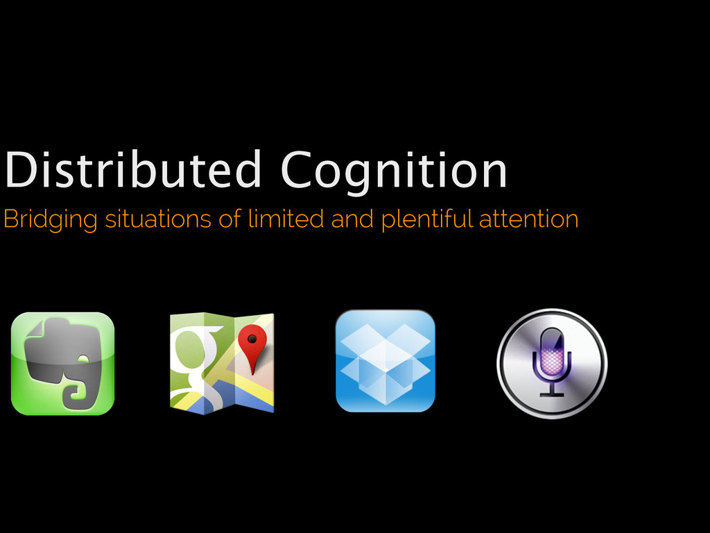 Distributed Cognition Bridging situations of li...