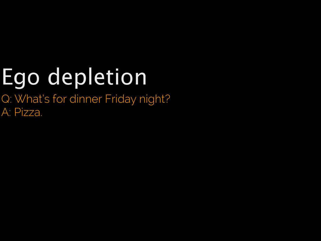 Ego depletion Q: What's for dinner Friday night...