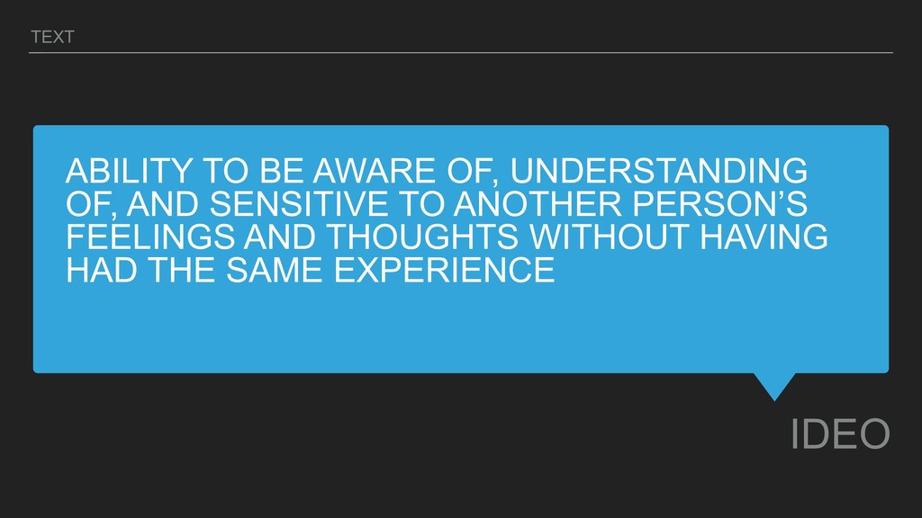 ABILITY TO BE AWARE OF, UNDERSTANDING OF, AND S...