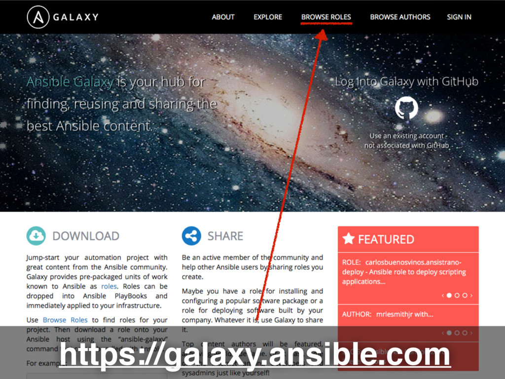 https://galaxy.ansible.com