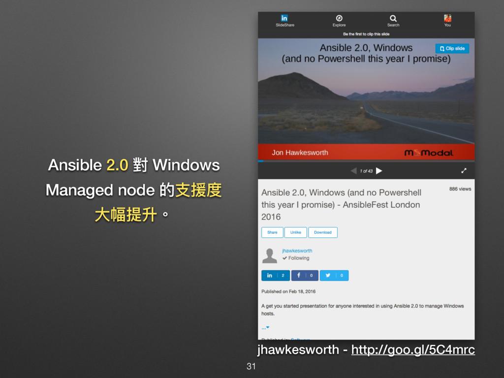 Ansible 2.0 䌘 Windows Managed node ጱඪൔଶ य़ଏ܋牐 j...