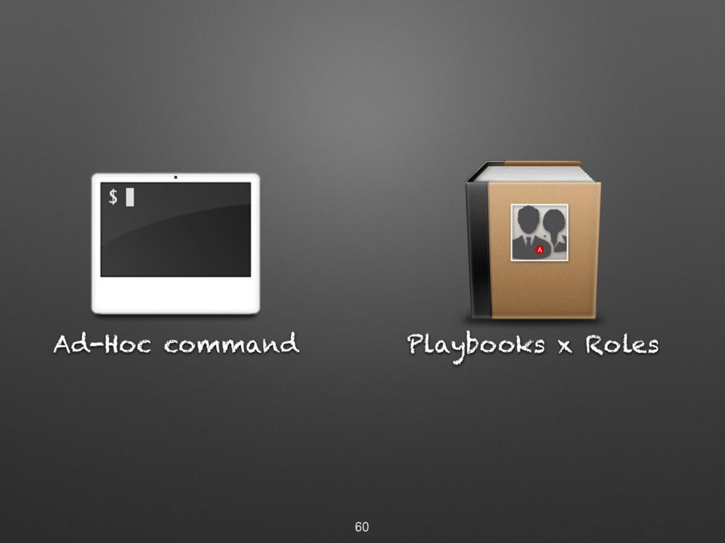 Ad-Hoc command 60 Playbooks x Roles