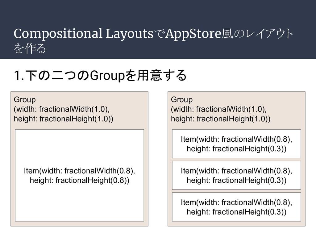 Compositional LayoutsでAppStore風のレイアウト を作る Group...