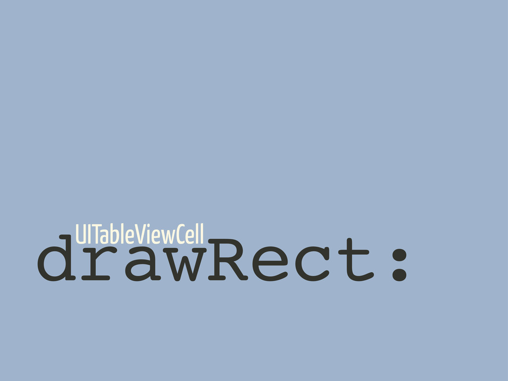 drawRect: UITableViewCell