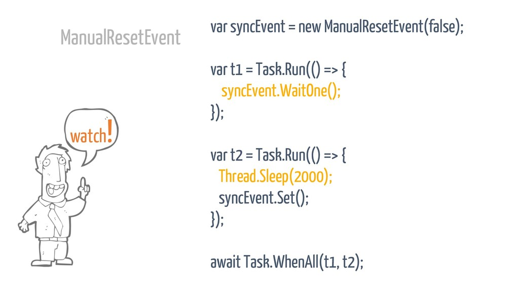 var syncEvent = new ManualResetEvent(false); va...