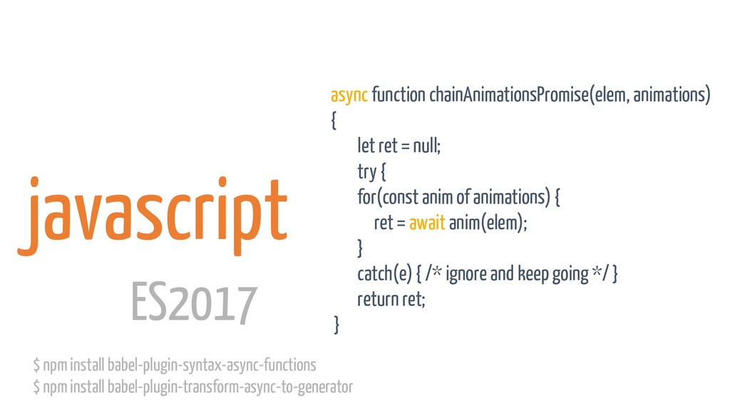 javascript async function chainAnimationsPromis...