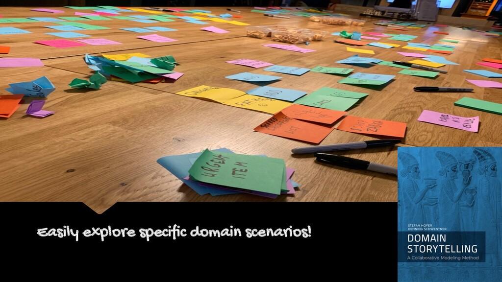 Easily explore specific domain scenarios! EVENT...