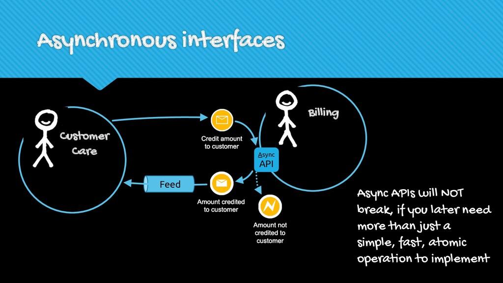 Asynchronous interfaces Billing Async API Custo...