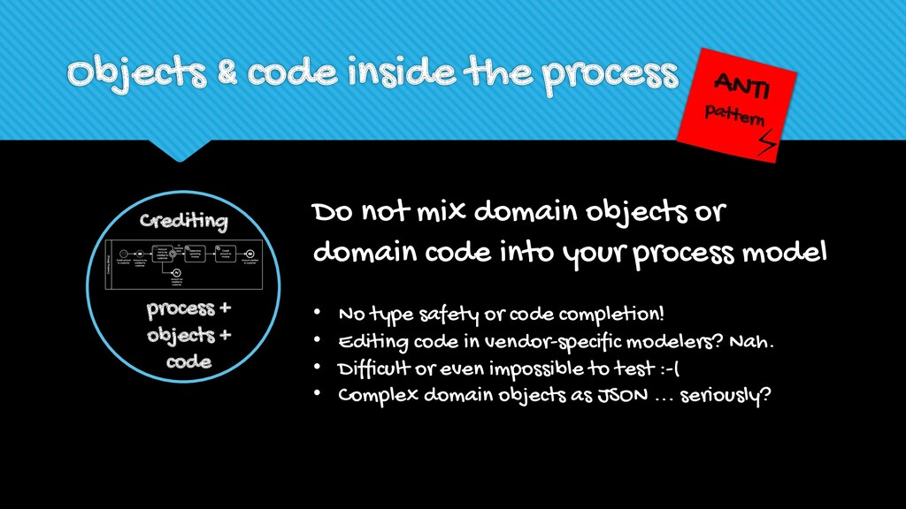 Objects & code inside the process Do not mix do...