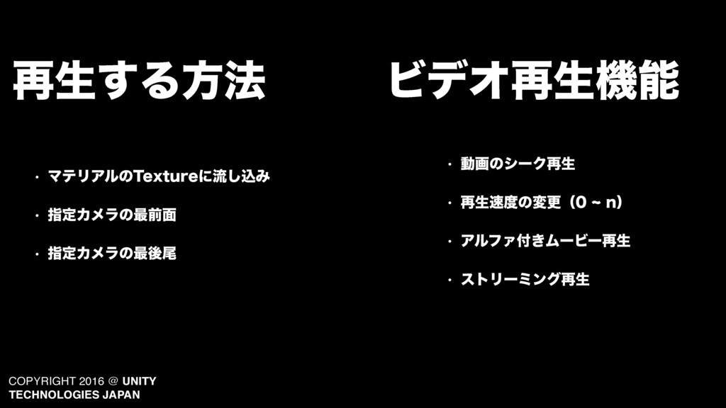 COPYRIGHT 2016 @ UNITY TECHNOLOGIES JAPAN ϏσΦ࠶ੜ...