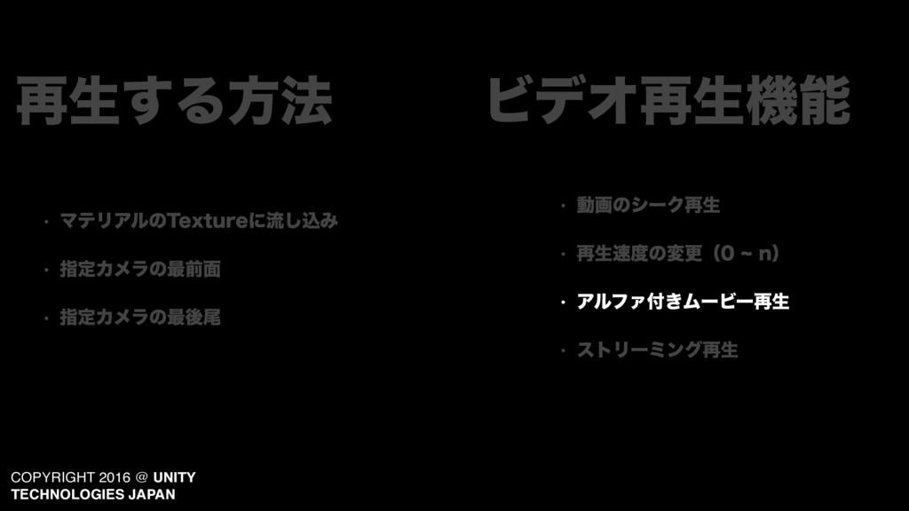 COPYRIGHT 2016 @ UNITY TECHNOLOGIES JAPAN w Ξϧϑ...