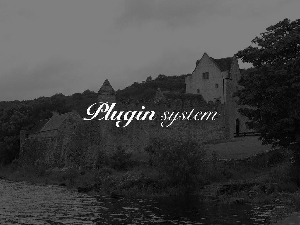 Plugin system