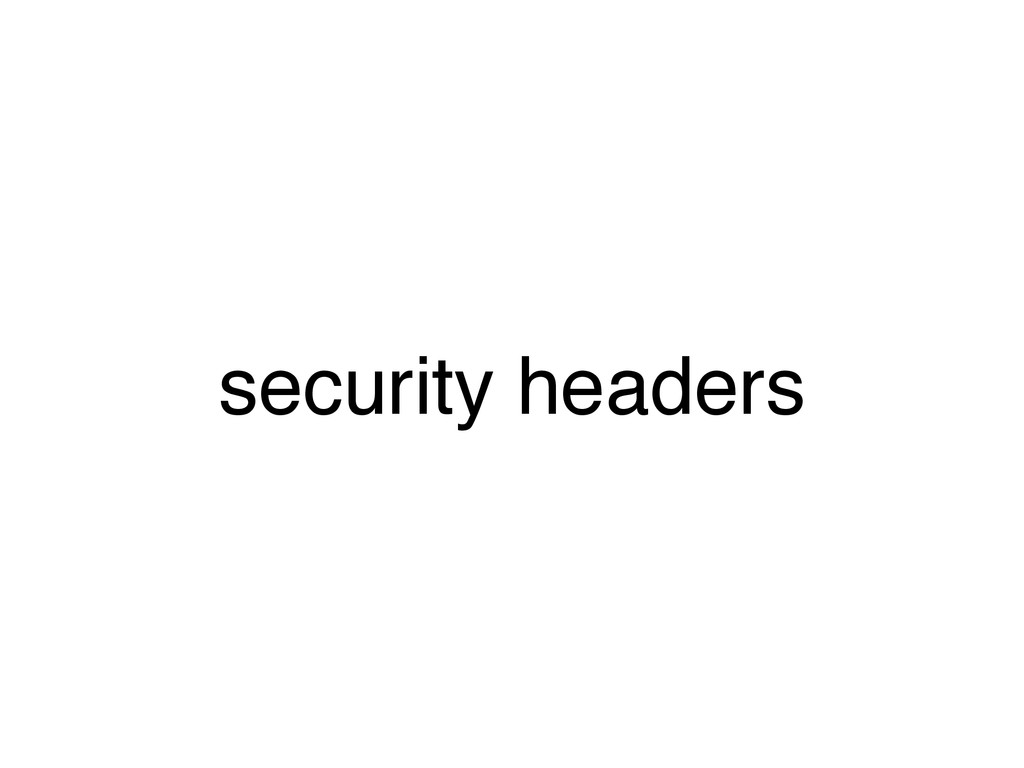 security headers